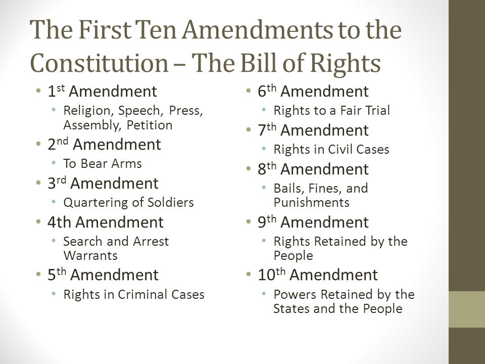 1st ten amendments
