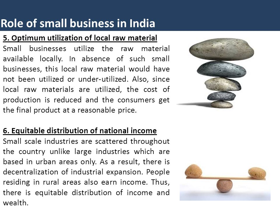 role of small business in india