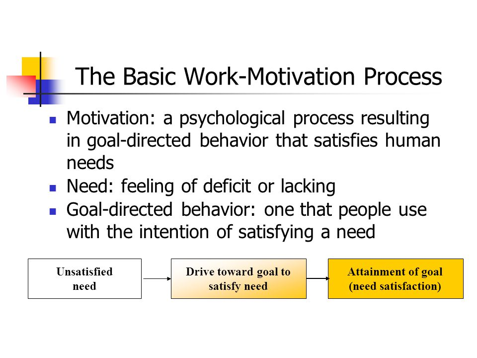 The Basic Work-Motivation Process