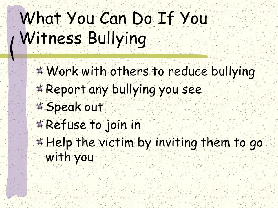 What You Can Do If You Witness Bullying