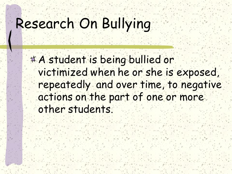 Research On Bullying