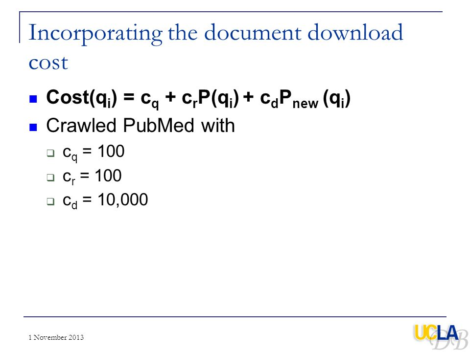 Incorporating the document download cost