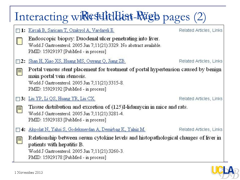 Interacting with Hidden-Web pages (2)