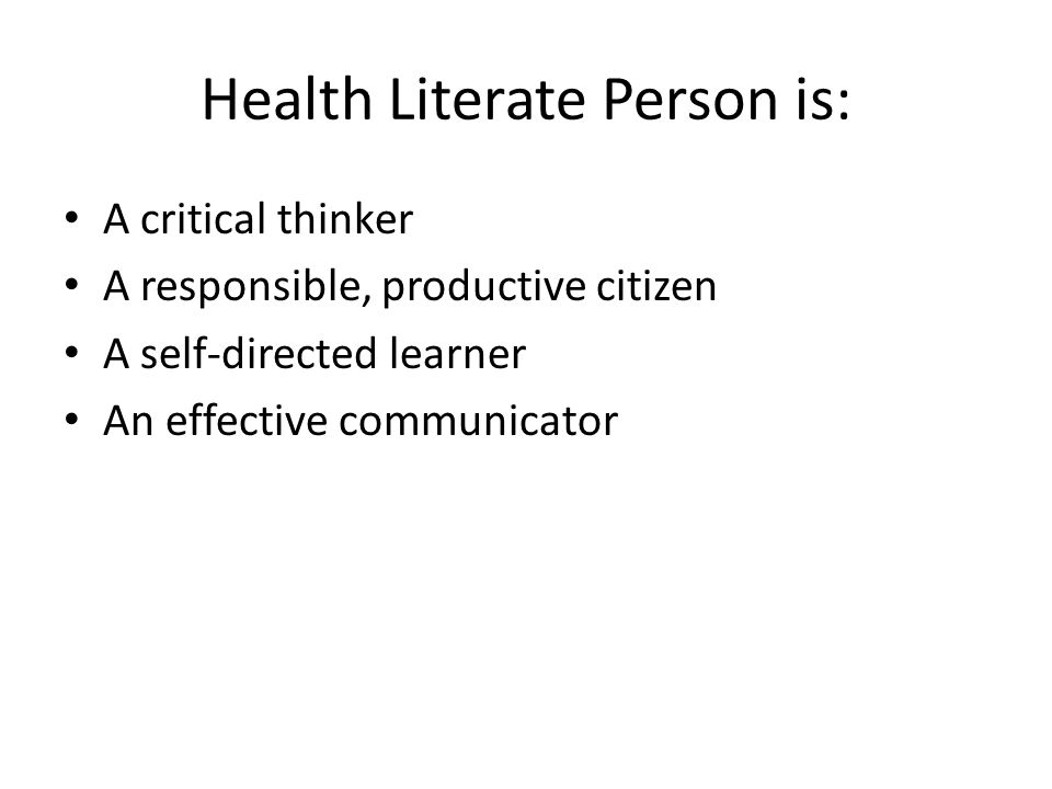 Health Literate Person is: