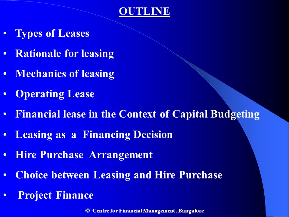  Centre for Financial Management , Bangalore