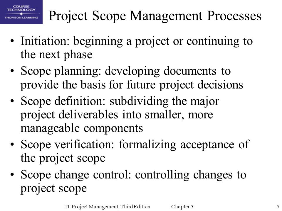 Chapter 5 Project Scope Management Ppt Video Online Download