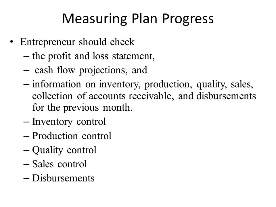 Measuring Plan Progress