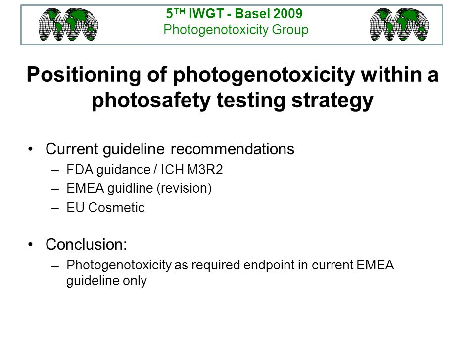 Positioning of photogenotoxicity within a photosafety testing strategy