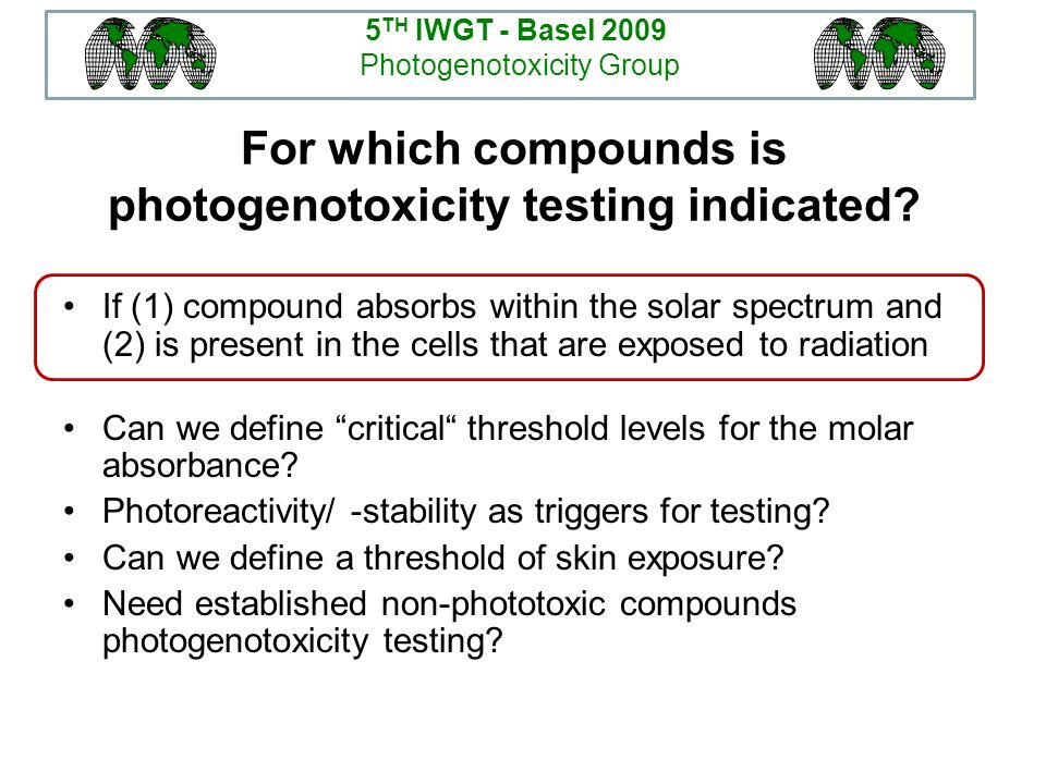 For which compounds is photogenotoxicity testing indicated