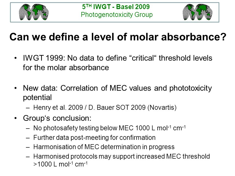 Can we define a level of molar absorbance