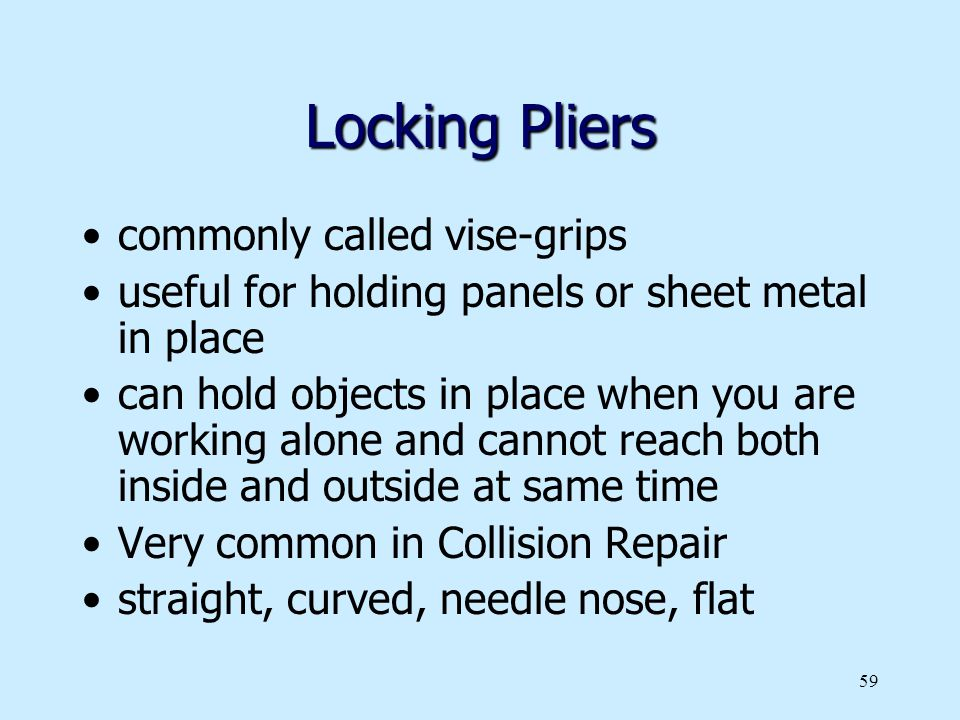 Locking Pliers commonly called vise-grips