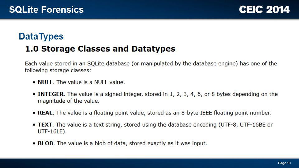 SQLite Forensics David Dym G-C Partners  - ppt download