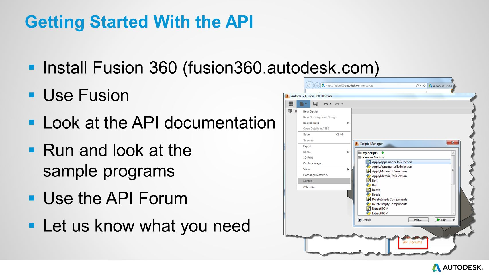 Getting Started with Fusion 360's API - ppt video online download
