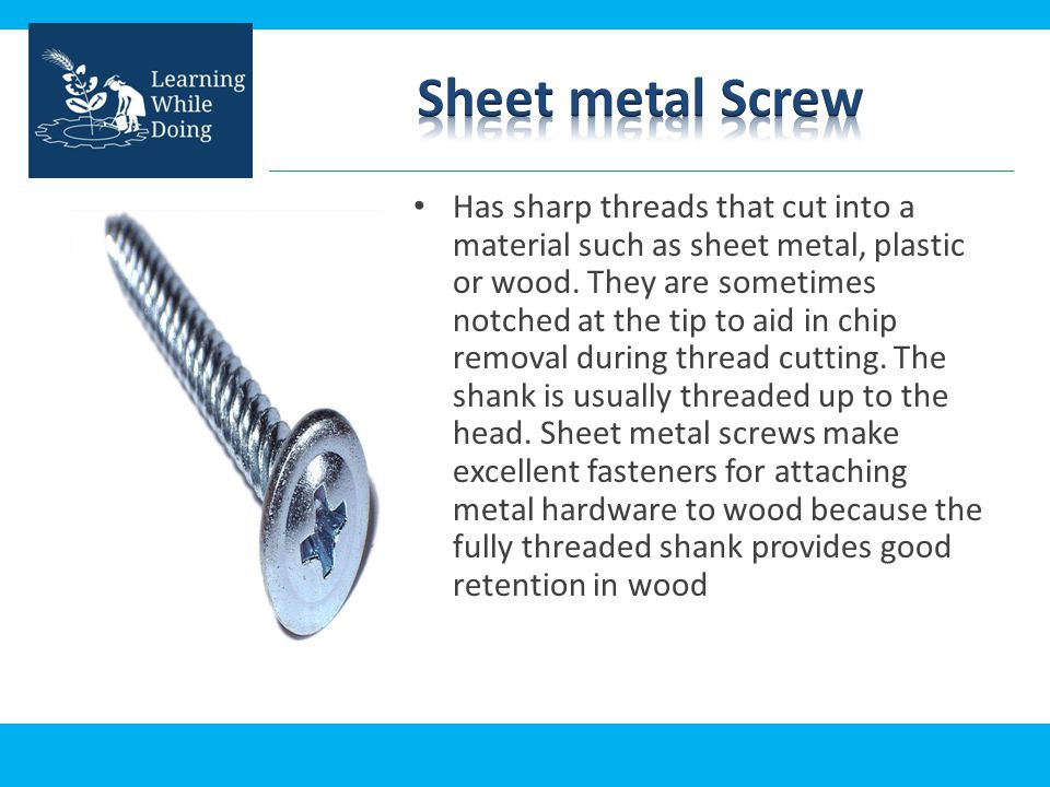 Types of Screw  - ppt video online download