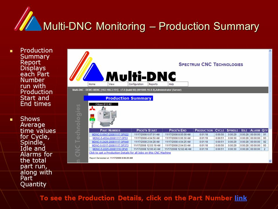 Multi-DNC Data Collection/Monitoring - ppt video online download