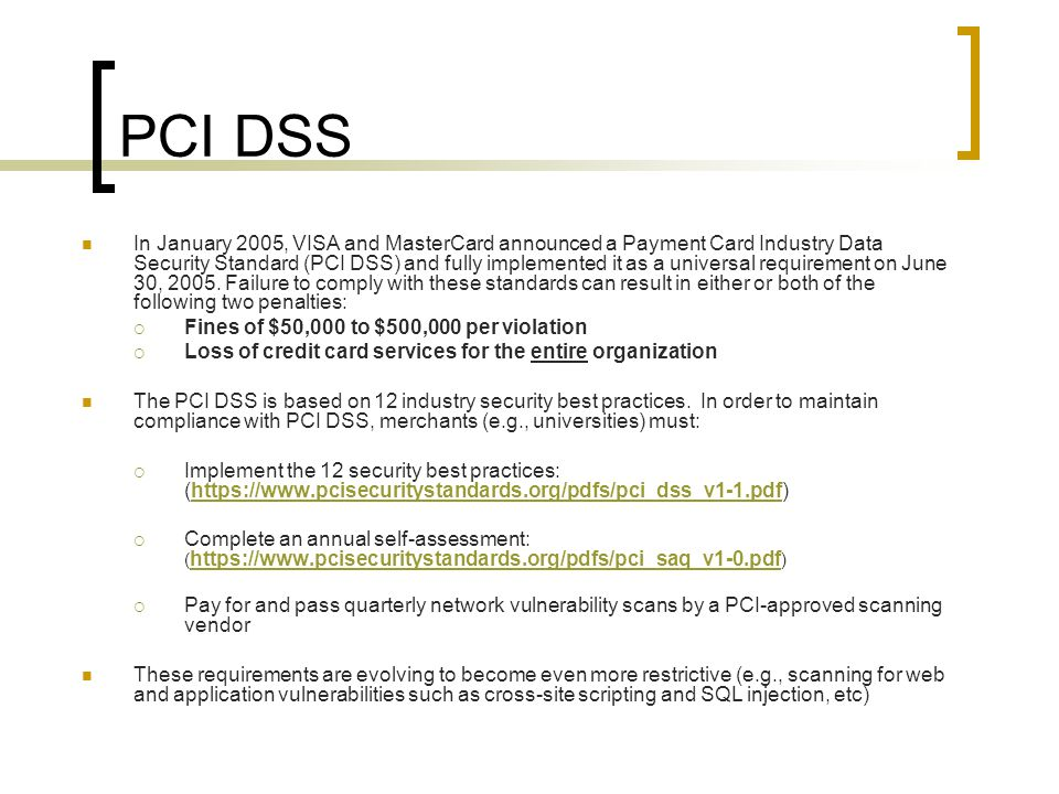 pci dss 12 requirements pdf