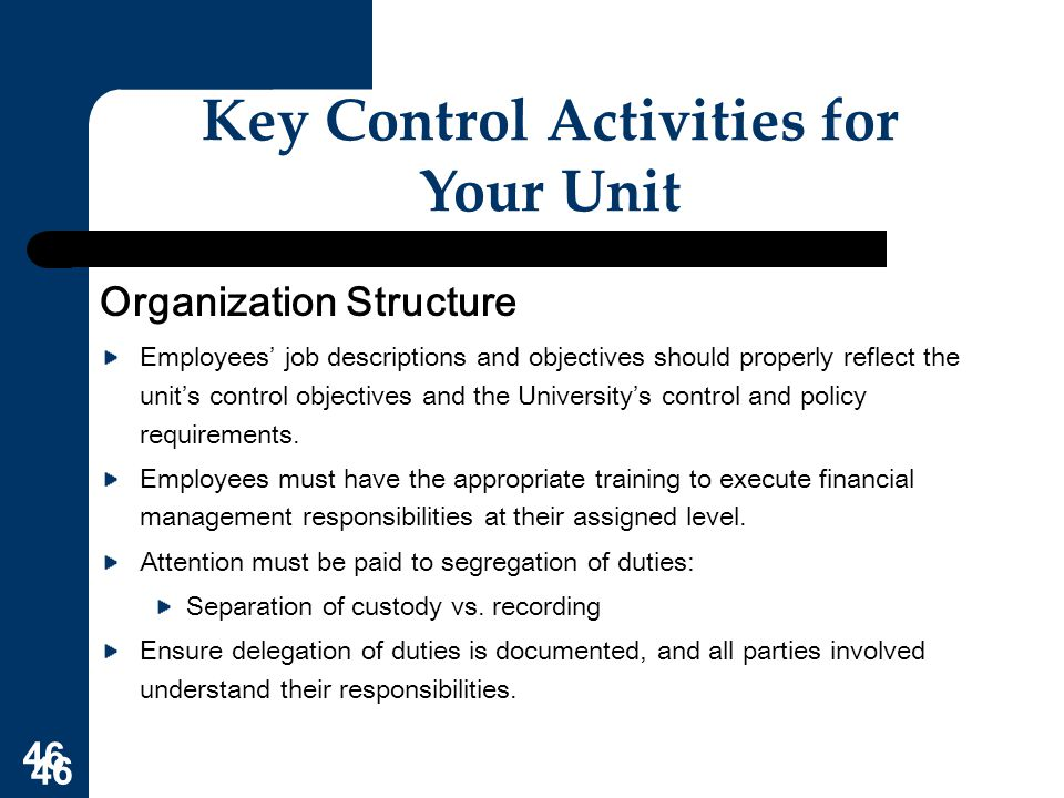 what is key control activities