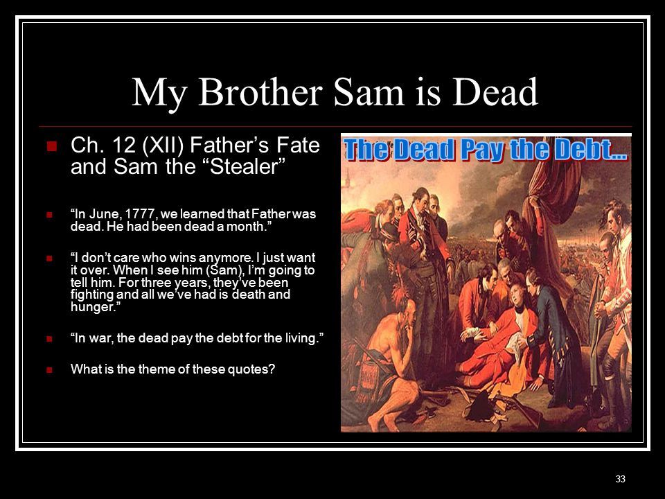 my brother sam is dead pictures