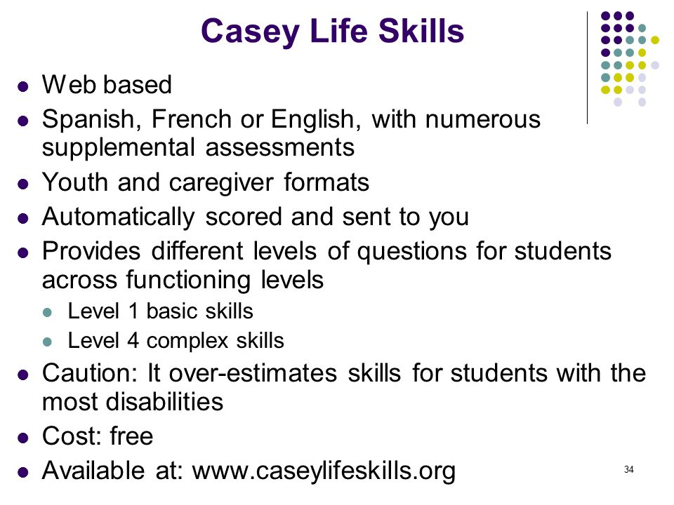 photo relating to Ansell Casey Life Skills Assessment Printable known as Changeover Examination for Pupils with Critical Many