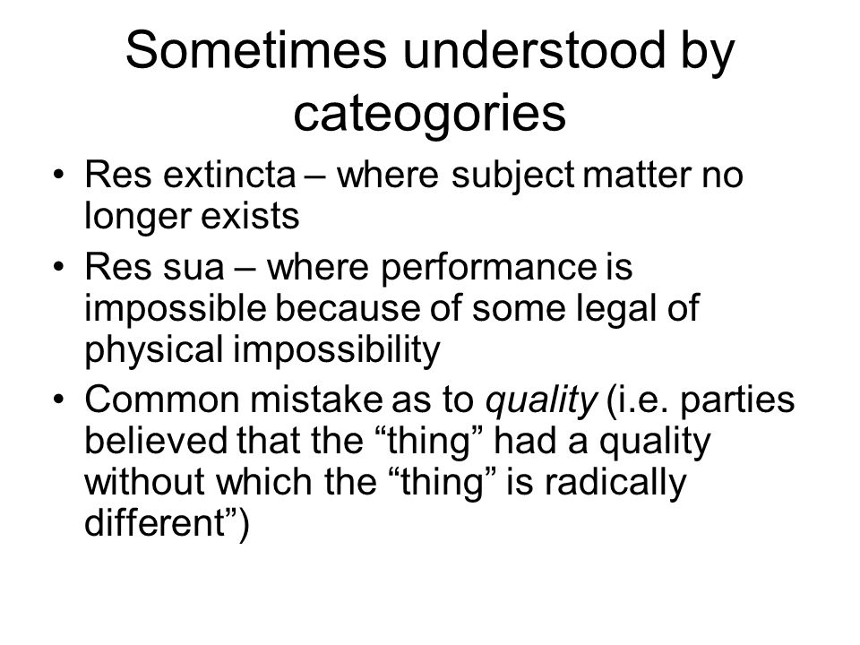 physical impossibility of performance