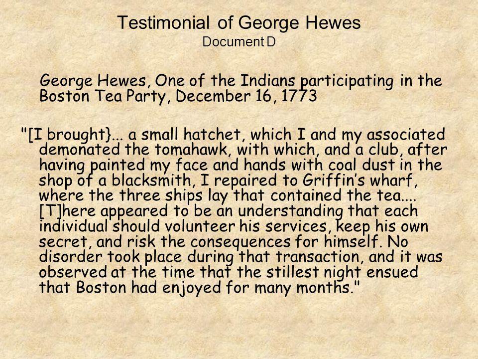 george hewes