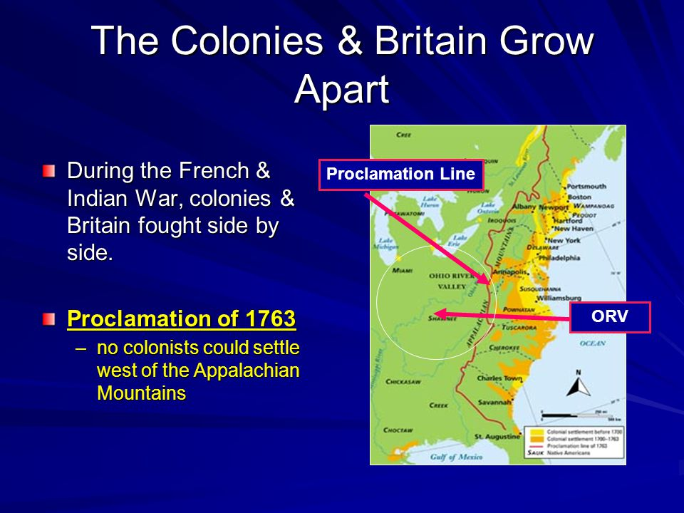 The Colonies & Britain Grow Apart