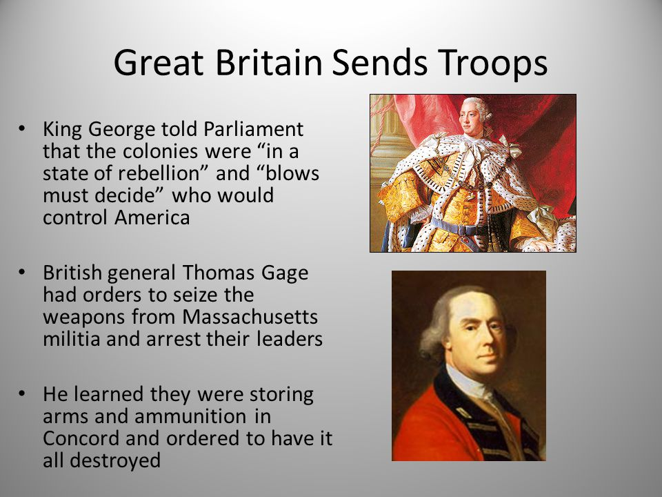 Great Britain Sends Troops