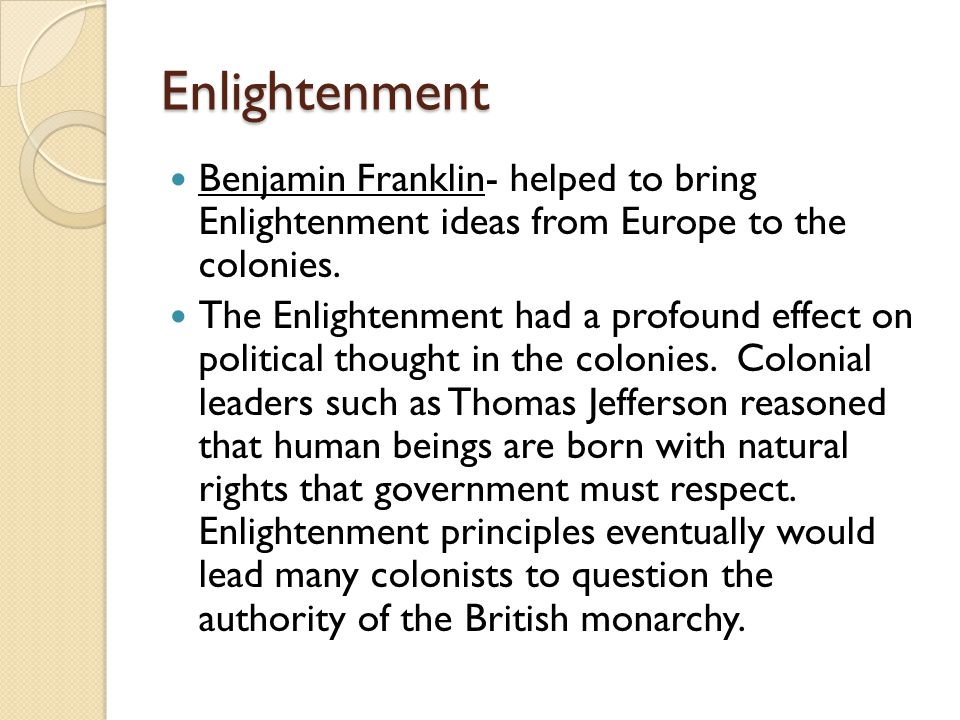 enlightenment quiz How to take the quiz you can tailor this self-test quiz to give you 5, 10, 15 or more questions you may select only one answer per question you will receive immediate feedback after each answer you type in, explaining why your answer is correct or incorrect, and pointing you to the relevant section in your textbook if you'd like to read more.