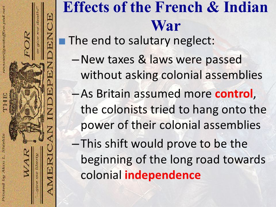 what was the effect of salutary neglect