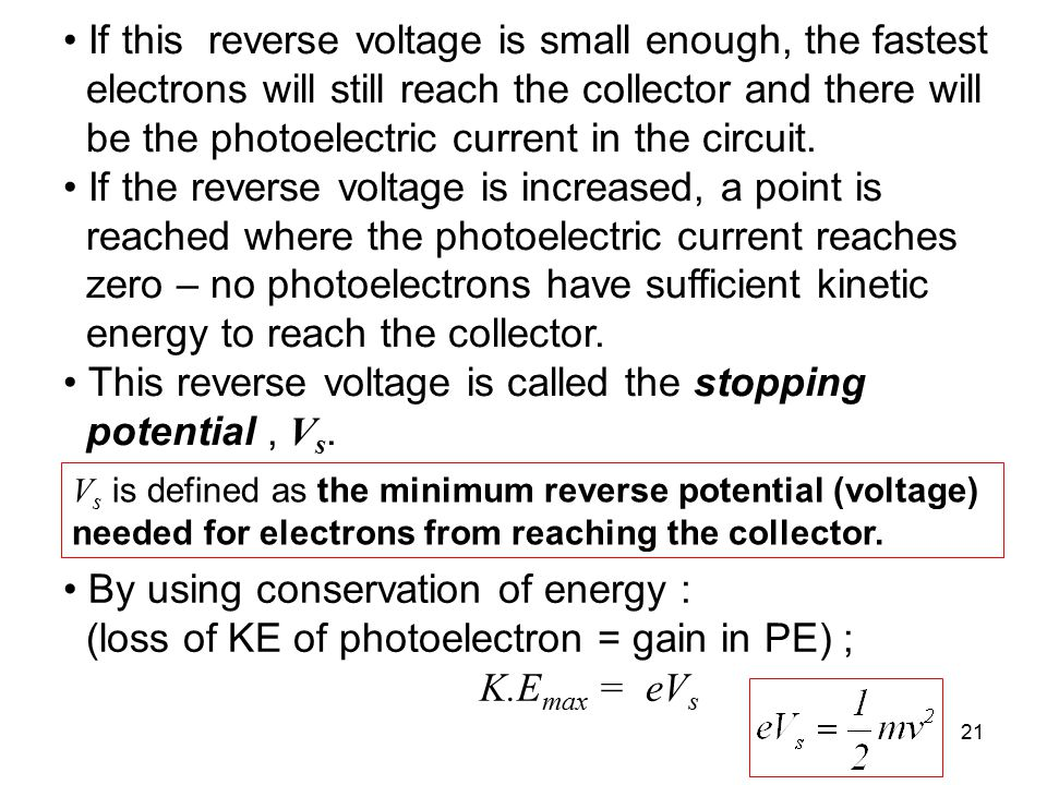 If this reverse voltage is small enough, the fastest