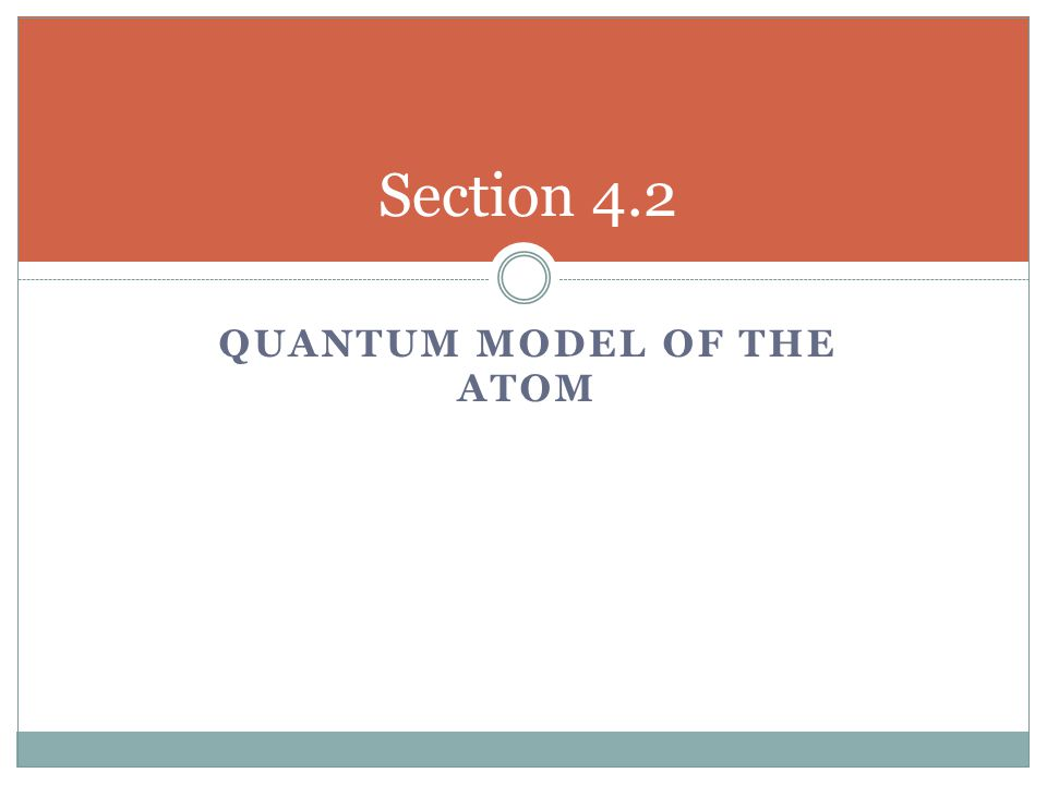Quantum Model of the Atom
