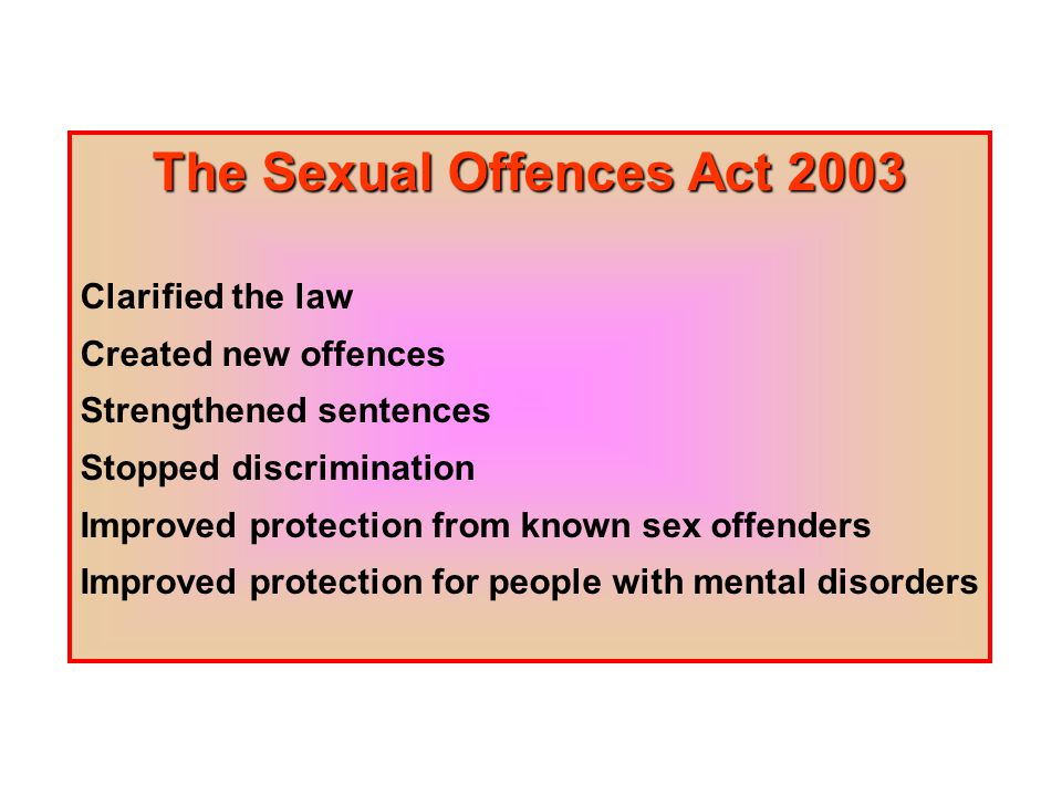 Definition of sexual offenders