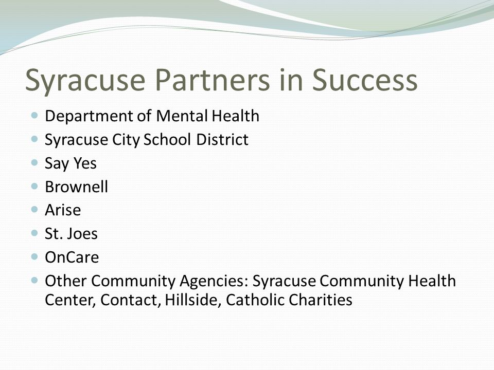 Syracuse Partners in Success