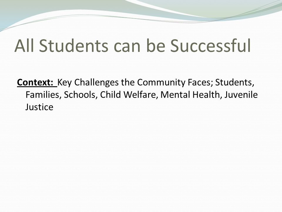 All Students can be Successful