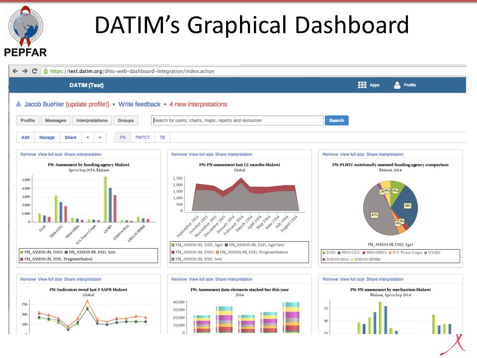 DATIM's Graphical Dashboard