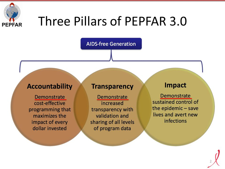 Three Pillars of PEPFAR 3.0