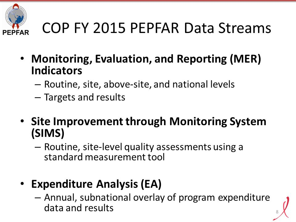 COP FY 2015 PEPFAR Data Streams