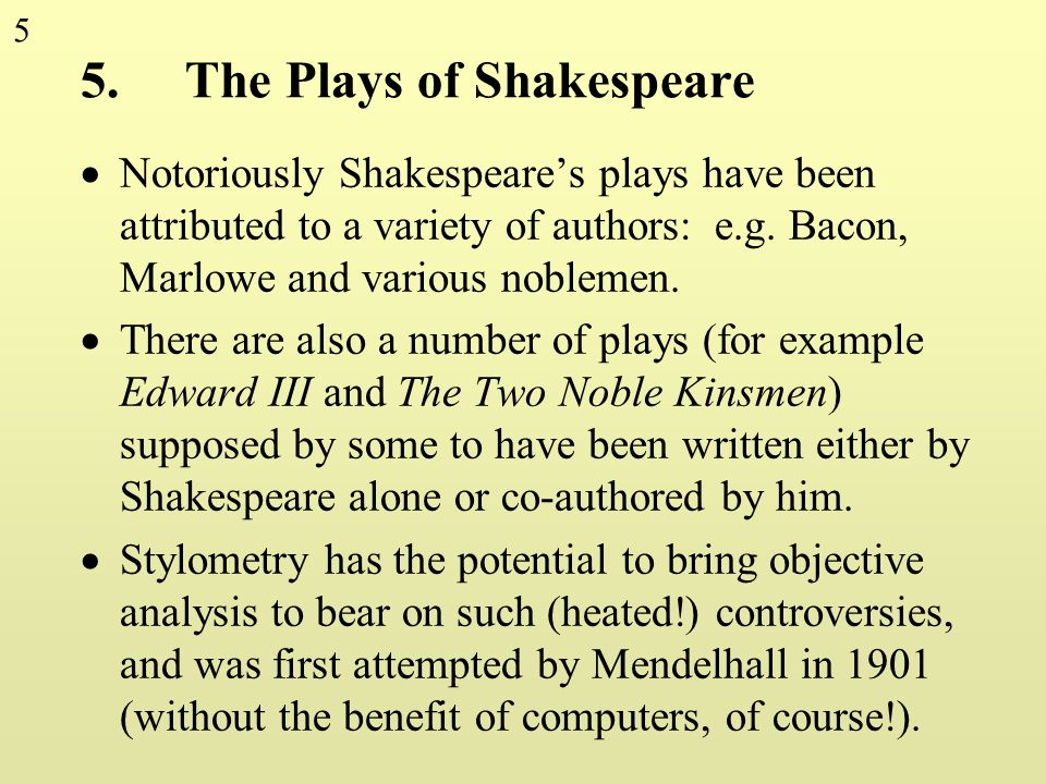 5. The Plays of Shakespeare