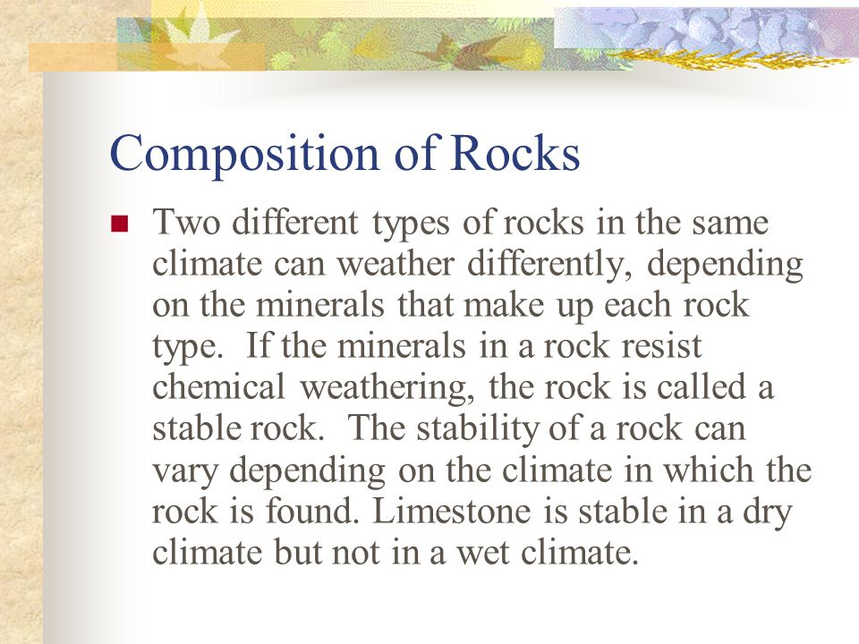 Composition of Rocks