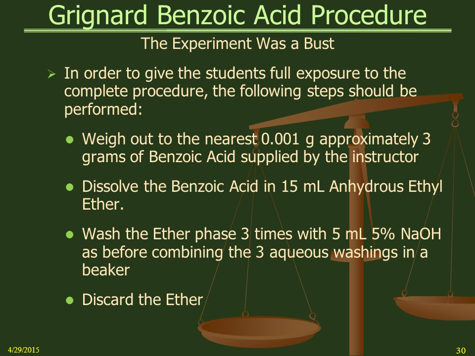 grignard synthesis of benzoic acid lab report
