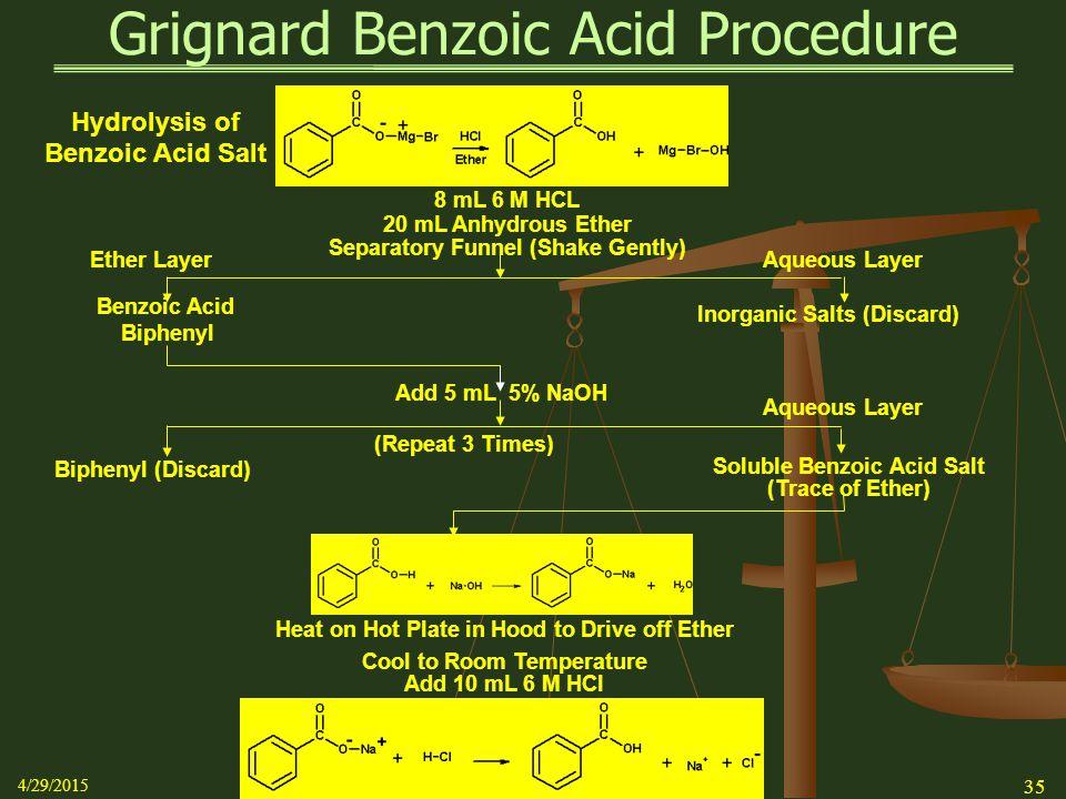 grignard reaction benzoic acid theoretical yield