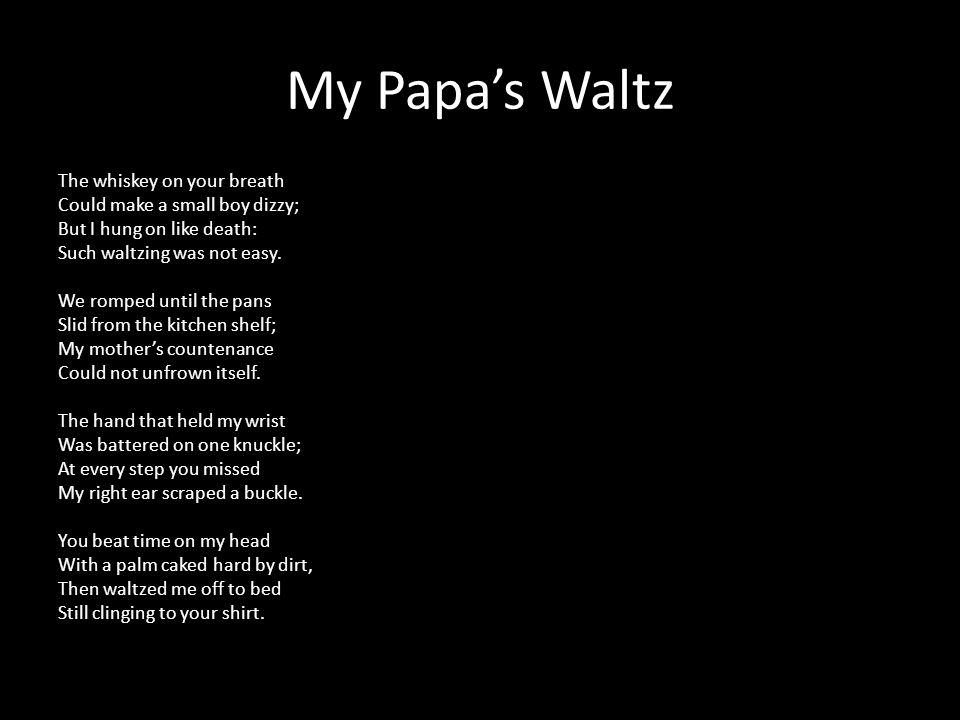 my papas waltz tone