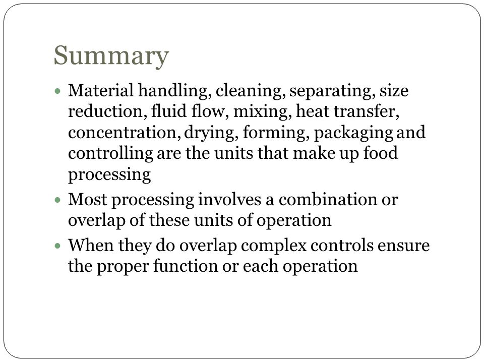 Unit Operations in Food Processing - ppt video online download