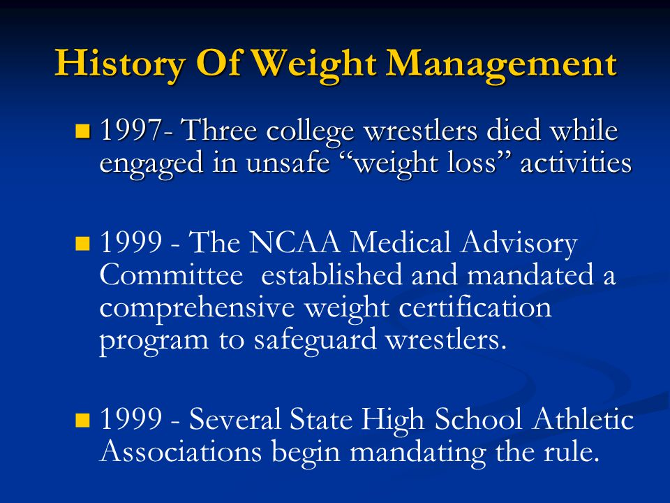 Natanwca Wrestling Weight Management Ppt Download