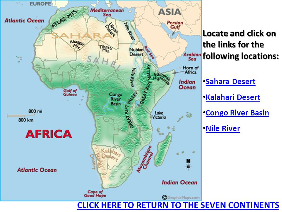 Major geographic features of the seven continents ppt video online 23 locate gumiabroncs Image collections