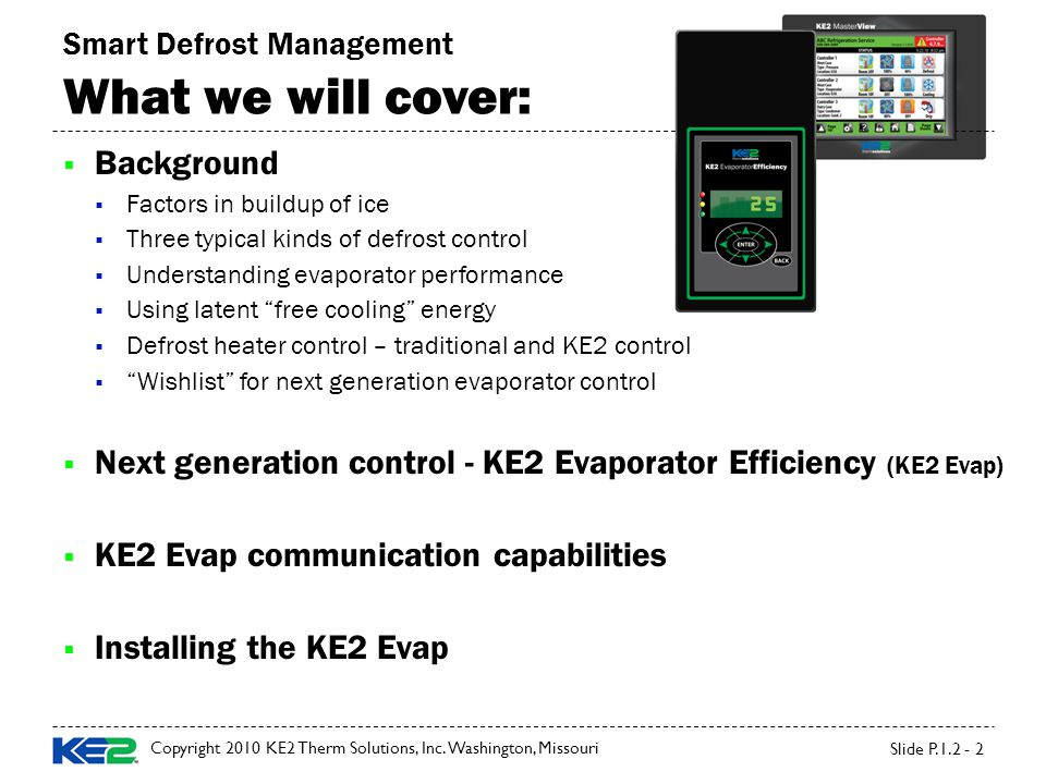 Ke2 evaporator efficiency ppt video online download smart defrost management what we will cover publicscrutiny Choice Image