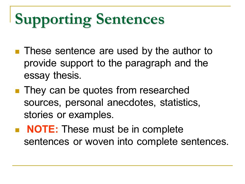 support and expand your thesis   ppt video online download  supporting