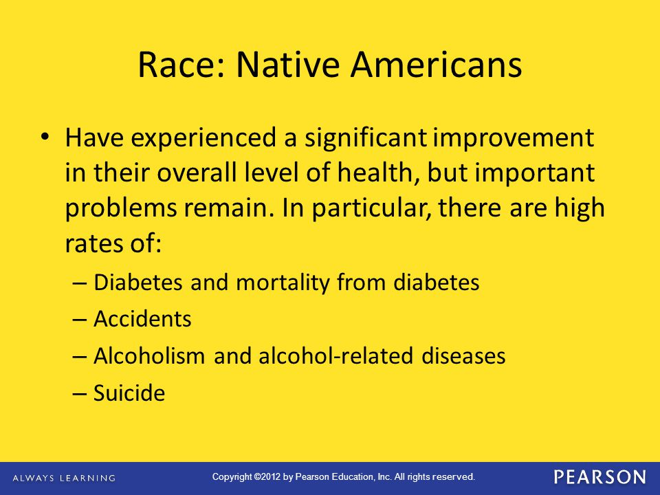 Race: Native Americans