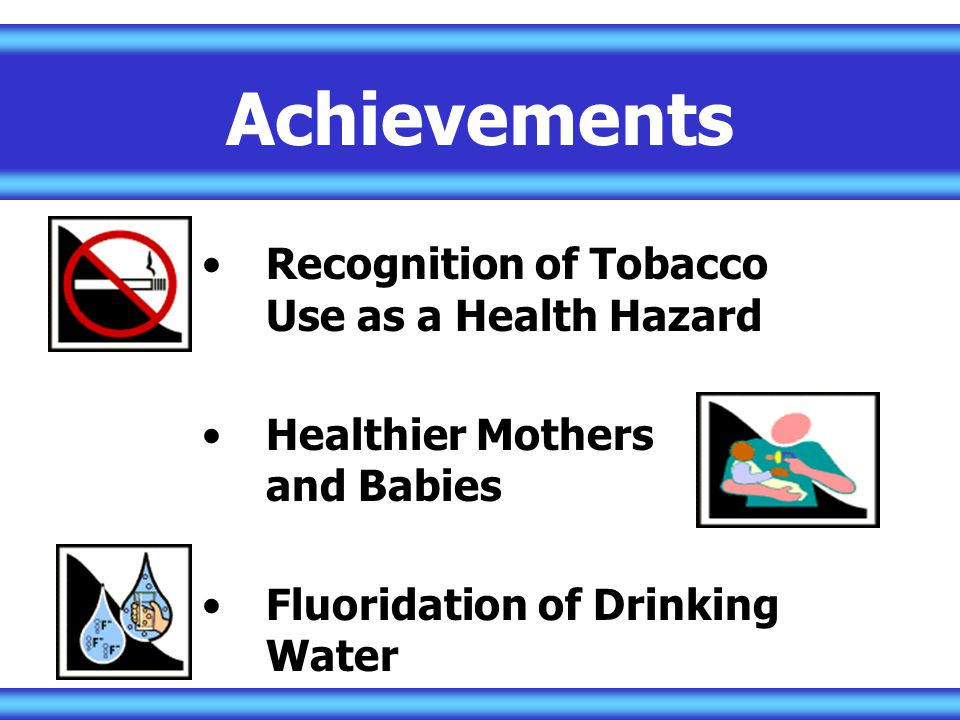 Achievements Recognition of Tobacco Use as a Health Hazard