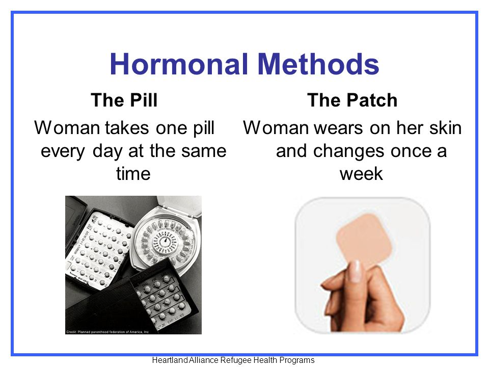 Hormonal Methods The Pill